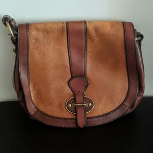 Brown leather cross body